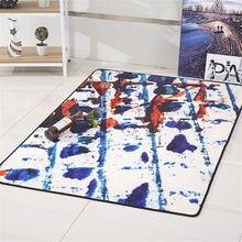 Minimalist Oil Painting Vintage Style Advanced Luxury Non Slip Mat Rug  Cushion Carpet For Bathroom