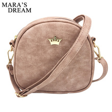 Mara's Dream 2017 Fashion Women Handbag Messenger Bags PU Leather Shoulder Bag Lady Crossbody Mini Bag Female Crown Evening Bags