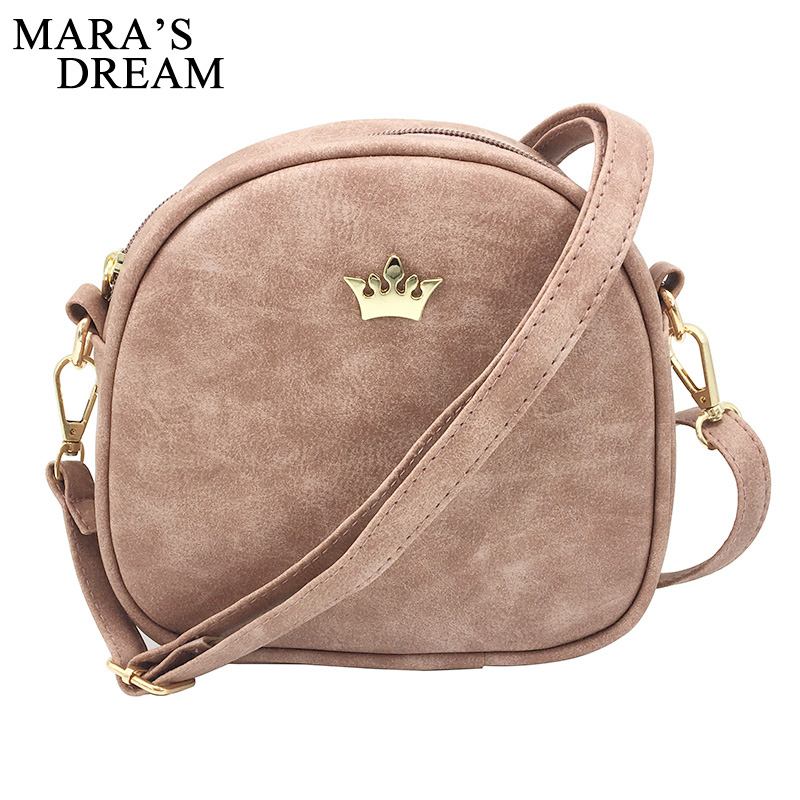 cb439108d8 Mara s Dream 2018 Fashion Women Handbag Messenger Bags PU Leather Shoulder  Bag Lady Crossbody Mini Bag Female Crown Evening Bags-in Top-Handle Bags  from ...