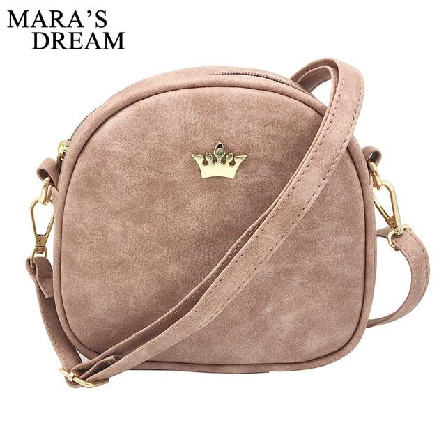 Mara's Dream 2019 Fashion Women Handbag Messenger Bags PU Leather Shoulder Bag Lady Crossbody Mini Bag Female Crown Evening Bags 1