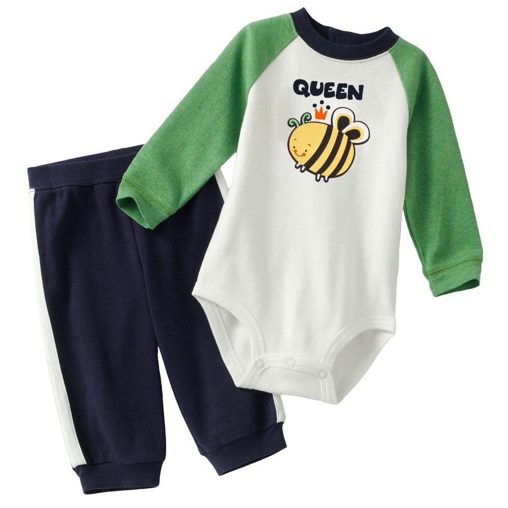 Bébi test nadrág öltöny Toddler teljes szett Hosszú romperek A - Bébi ruházat