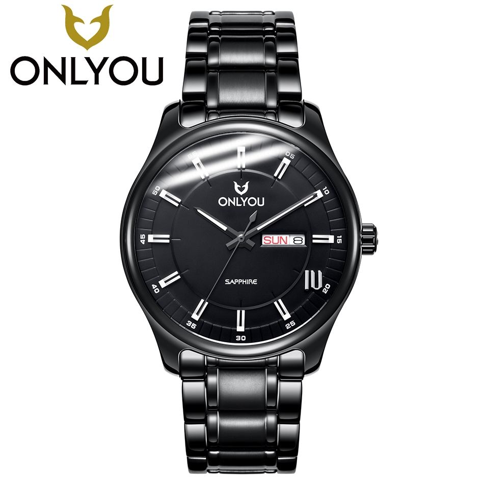 ONLYOU Mens Watches Top Brand Luxury Lover Watch Women Business Diamond Quartz Clock Ladies Fashion Stainless Steel Wristwatch onlyou bracelet women watches stainless steel ladies diamond waterproof fashion ladies watch gfit lover quartz watch man clock
