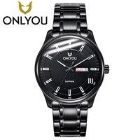 Onlyou мужские Часы Лидирующий бренд роскошные любитель смотреть Для женщин Бизнес алмаз кварцевые часы Дамская мода Нержавеющаясталь наруч
