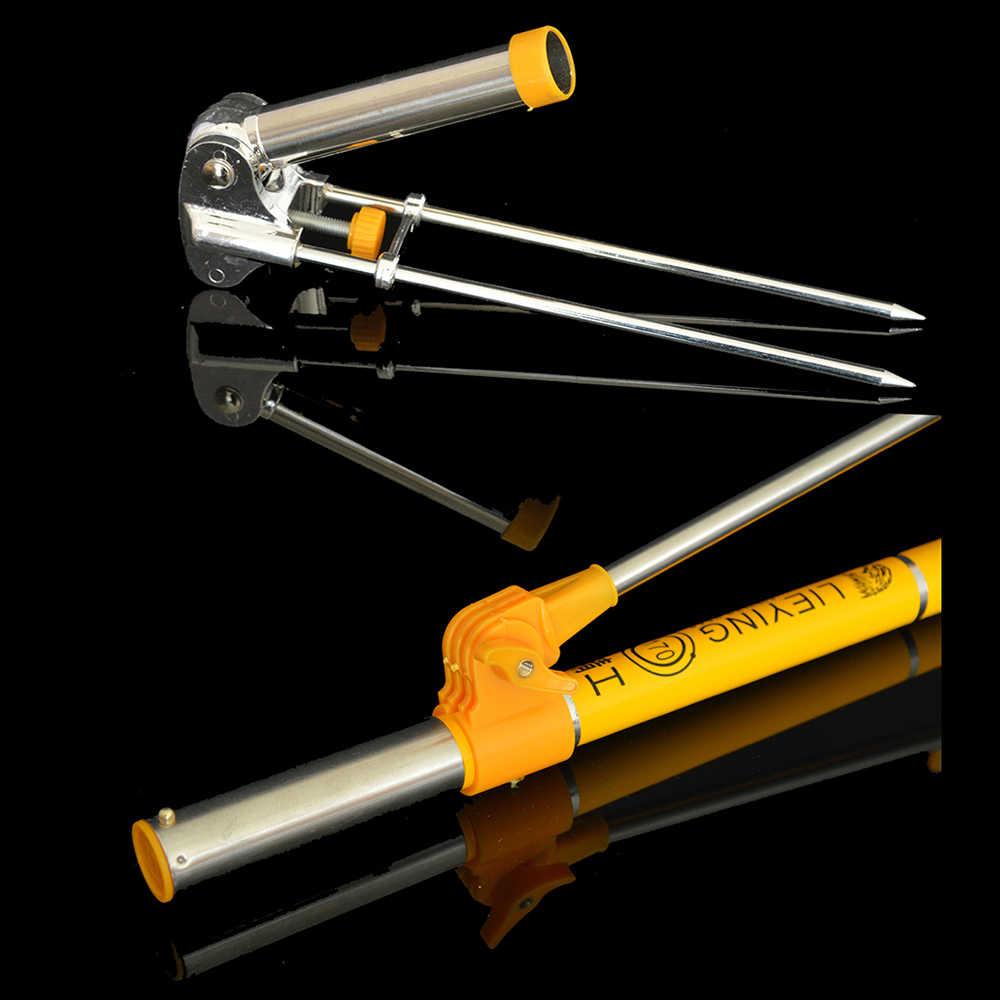 釣竿炭素繊維ストレッチポールブラケットホルダー 7 セクション 1.7 メートル 2.1 メートル 2.4 メートル望遠鏡の釣竿サポート