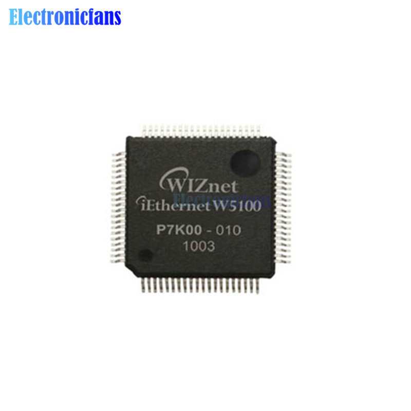 TOP TCP//IP Ethernet CONTROLLER IC WIZNET QFP-80 W5100 NEW