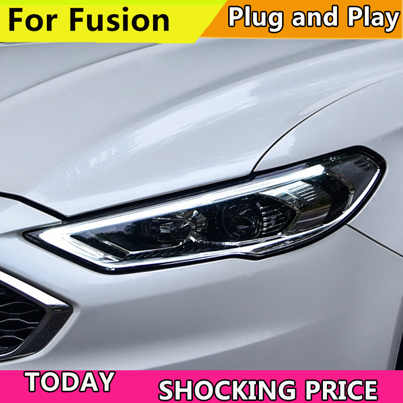 Image 2 - Car Styling Head Lamp for Ford Mondeo 2017 2018 Headlights for Fusion Headlight Dynamic steering DRL H7 D2H Hid Bi Xenon Beam-in Car Light Assembly from Automobiles & Motorcycles