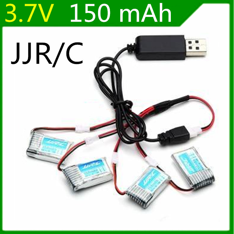 For JJRC H20 Battery Charger sets 3.7v 150mah RC Quadcopter Spare parts 150mah LIPO Battery Original bateria jjrc h20 charger