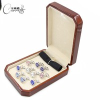 Promotional wood jewelry box gift box for carrying cufflinks boxes