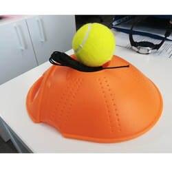 Теннисный тренажер основной инструмент Упражнение теннисный мяч самоисследование отскок мяч теннисный тренажер плинтус дропшиппинг