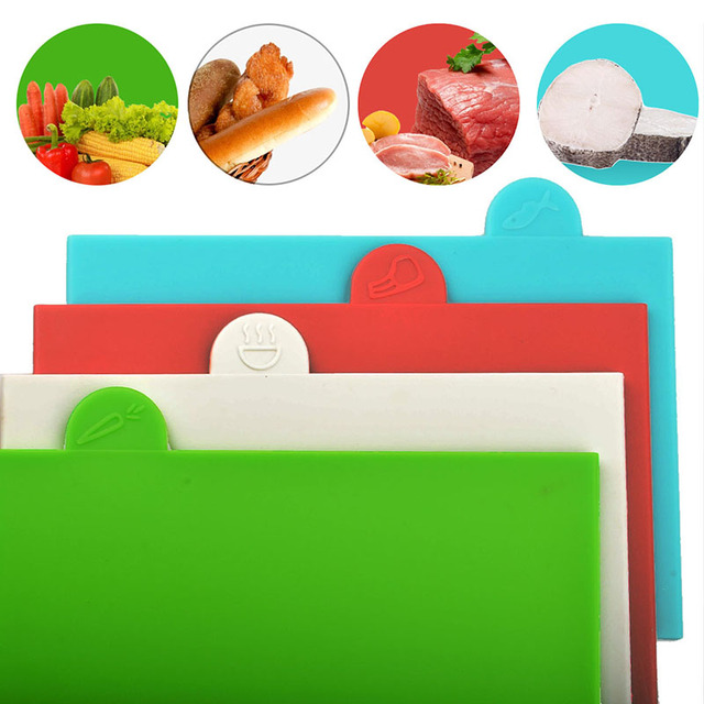 Chopping Boards 4 Pcs Set with Case