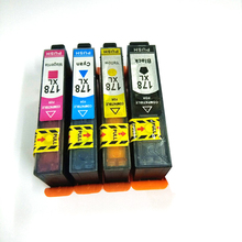 цены Vilaxh 4color 178xl compatible for hp 178  ink cartridge replace for hp178 Photosmart 5510 5515 6510 7510 C5324 C5370 C5383
