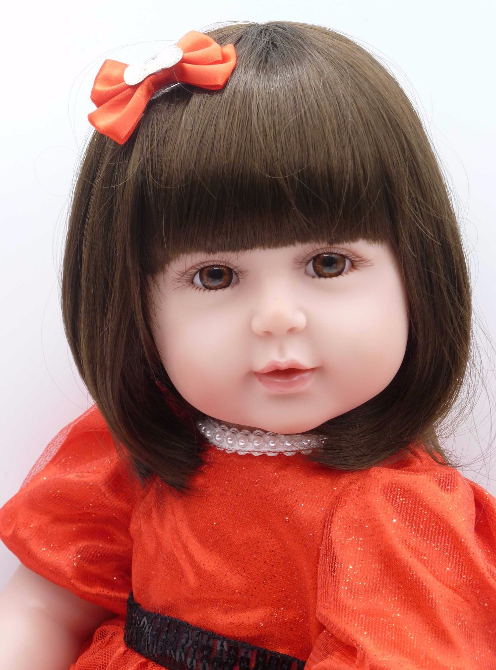 56cm charm baby adora Lifelike toddler Baby girl Bonecas with red princess dress and red Bowknot clip silicone reborn baby dolls river cottage baby and toddler cookbook