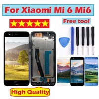 Mi 6 LCD Display Touch Screen Digitizer Assembly 1920x1080 FHD For Xiaomi Mi6 LCD Replacement Parts for xiaomi 6 lcd