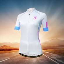 EMONDER Women cycling jersey Short Sleeve mtb road bike clothes cozy slim White ropa ciclismo maillot top
