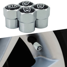4PCS Wheel Tire Parts Valve Stem Caps Cover For Kia Ceed Rio Sportage R K3 K4 K5 Ceed Sorento Cerato Optima 2015 2016 2017 2018(China)
