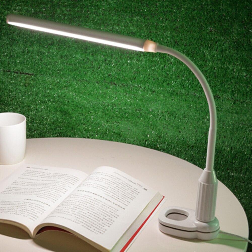 Fashion Clamp Clip Licht Tisch Lampe Stufenlos Dimmbar USB Helligkeit Einstellbar Flexible Lampe Schreibtisch Lese Lampe Touch Buch Licht