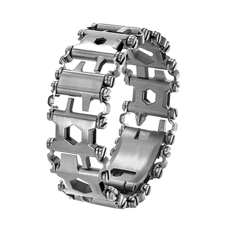 EDC 17-4 Stainless Steel Outdoor 29 Kinds Of Multi-functional ToolS Bracelet Portable Tools Camping Survival Screwdriver Cutting 29 in 1 portable outdoor survival edc tool bracelet multi functional wearable tread stainless steel punk link bracelets strap