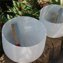 8 inch and 10 inch 2pcs frosted crystal singing bowls with any note C D E F G A B or any Chakra of 7