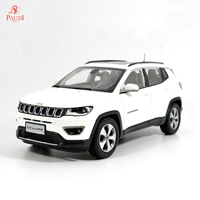 Paudi Model 1/18 1:18 Scale Jeep Compass 2017 White Diecast Model Car Toy Model Car Doors Open