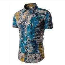 Asian Size M-5XL Large Size Men's Shirts Cotton linen Casual Short Sleeve