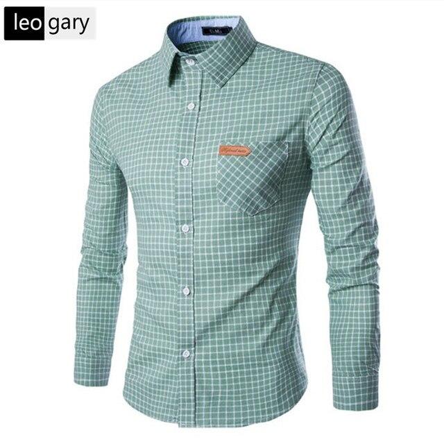 Aliexpress.com : Buy 2017 Fashion Style Plaid Shirt Men Long ...