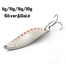 GT bio  5g 10g 15g 20g  metal spinner spoon fishing lure sequins lures with feather fly fishing  hard baits treble hook