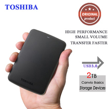 "Toshiba Canvio Basics 2.5"" Portable external hard drive disk 2tb hdd usb3.0 externo disco Storage Devices for Laptop Desktop"