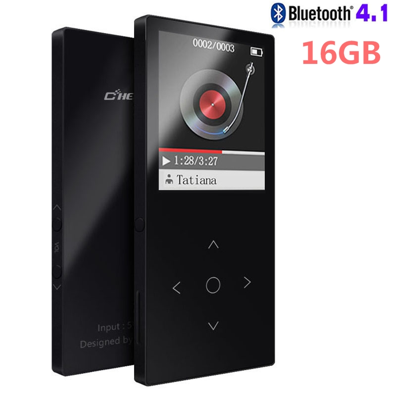 Original Touch Key HIFI Bluetooth MP3 Player 16G Ultra Thin Color Screen High Sound Quality Entry-level Lossless Music Player
