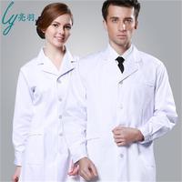 Autumn long sleeves white coat doctor clothes men and women winter nurse beauty salon uniforms Laboratory clothing