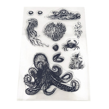 JC Rubber Clear Stamps for Scrapbooking Underwater World Silicone Seals Craft Stencil Transparent Stamp Paper Card Making Sheet цены