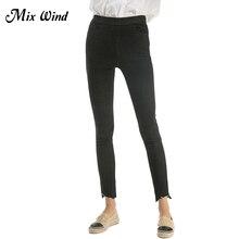 Mix Wind Autumn High Waist Jeans Female Pencil Pants Women Winter New Fashion High Waist Pencil Pants Female Ankle-length Pants