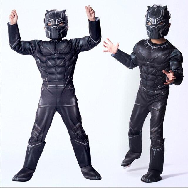 Vingadores Herói Pantera Negra Cosplay Macacões Halloween Carnival Masquerade Costume Presente de Aniversário para Crianças