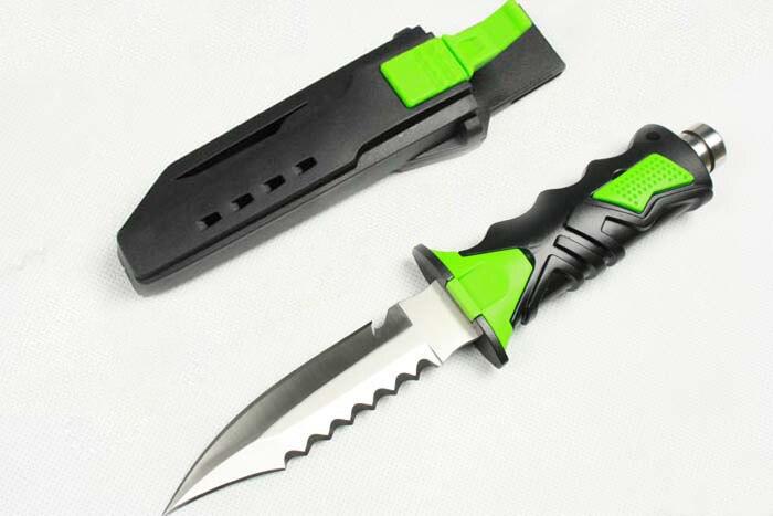 2 color cuchillo al aire libre buceo 440c hoja de goma Cuchillos de ...