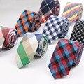 Moda Laço Clássico Gravata Dos Homens da Manta Casual Tartan Terno Bowknots Laços de Algodão Masculina Gravata Skinny Slim Laços Coloridos