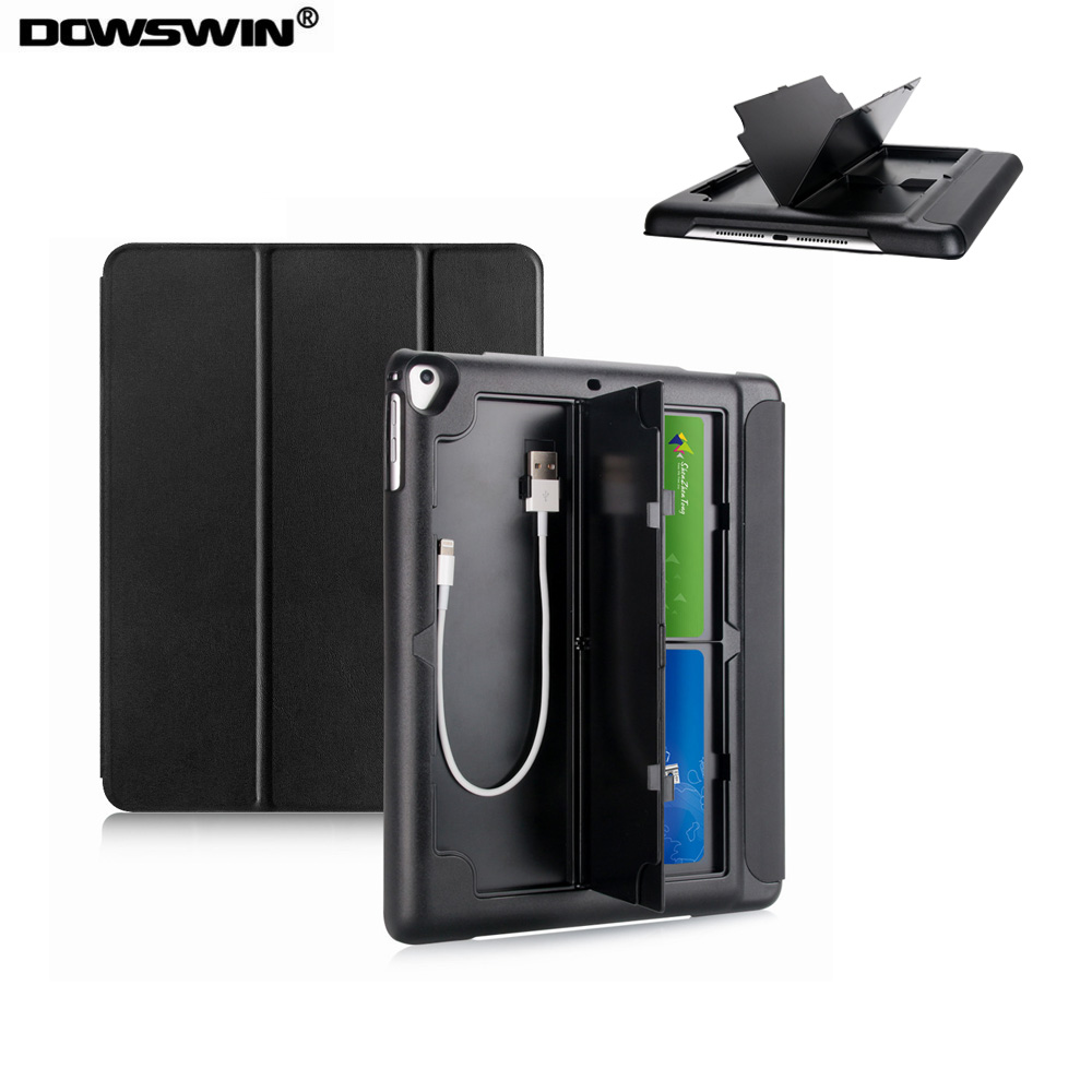 все цены на for ipad air 2 case ,DOWSWIN pu smart leather for ipad air 2 multifunction cover pc hard back cover for ipad air2 case for A1566 онлайн