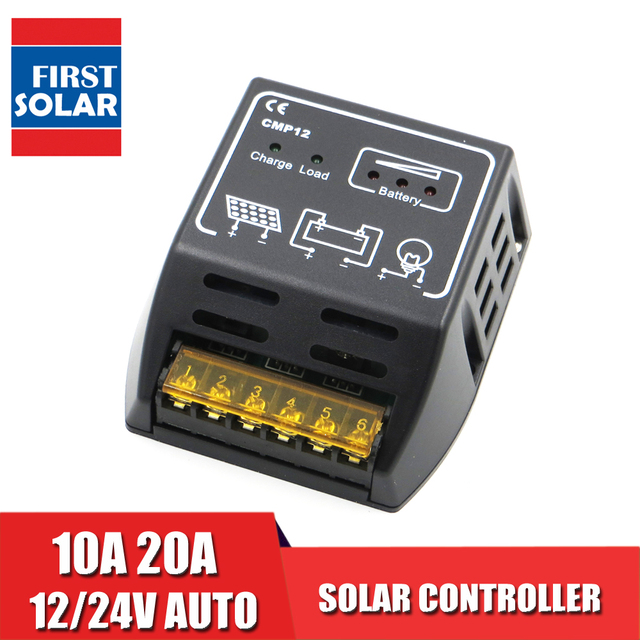 BSV20A CMP12 12V 24V 20A 10A Solar Cell panels Battery Charge Controller 50W 100W 200W PWM battery charger Regulators