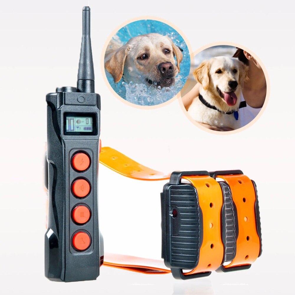 Free shipping 1000 meters range Aetertek At 919C 2 Rechargeable Auto Anti Bark Dog Trainer collar