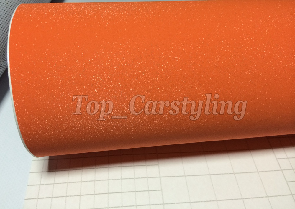 Orange glitter sparkle car wrap vinyl film (4)