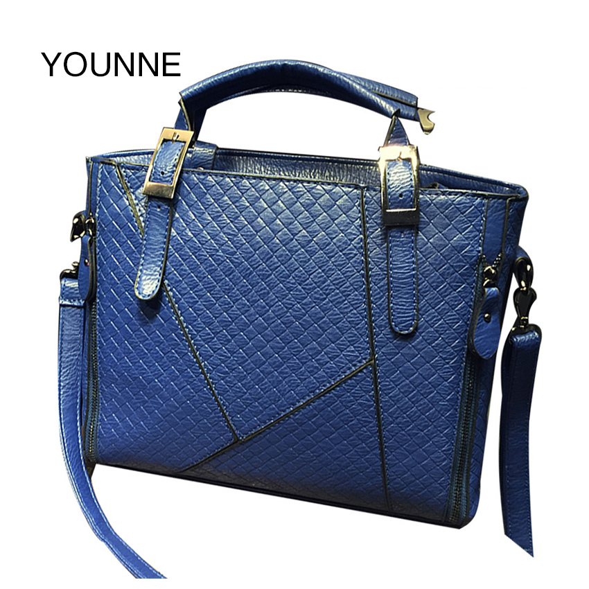 Younne Women Ladies Matte PU Leather Shoulder Bag Tote Retro Large Handbag Purse Female Solid Color Message Bags new fashion women message bags with small purse metal ring handle leather handbag ladies girls trendy shoulder bag balestra