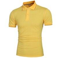 2017 Summer New T Shirt Men Fashion Polo Shirts For Man Casual Solid Short Sleeve Shirt
