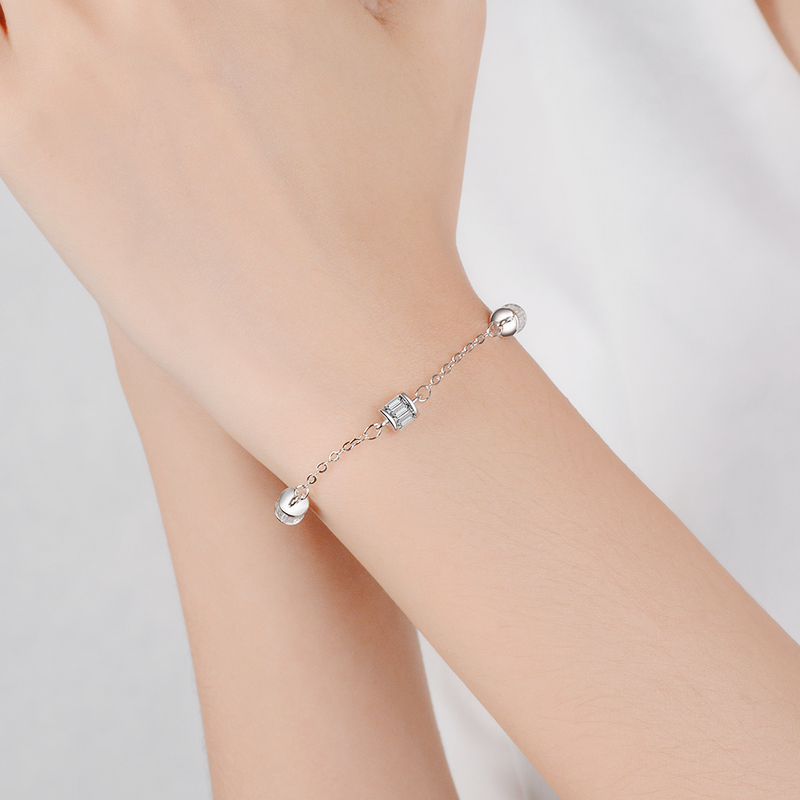 Everoyal Vintage Lady 925 Silver Bracelets For Women Jewelry New Fashion Crystal Geometric Bracelets For Girls Accessories Gift in Charm Bracelets from Jewelry Accessories