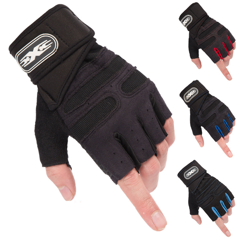 M-XL Gym Gloves Heavyweight Sports Exercise Weight Lifting Gloves Body Building Training Sport Fitness Gloves Crossfit Equipment