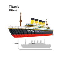 Building Star Movie Titanic Big Cruise Ship Boat 3D Modle DIY Micro Mini Blocks Bricks Assembly Diamond Building Toy no Box