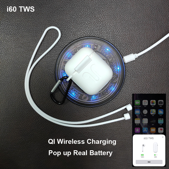 i60 TWS Pop up 1:1 Replica Separate use Wireless Earphone QI Wireless Charging Bluetooth 5.0 Earphones Bass Earbuds PK i20 i12 USB-флеш-накопитель