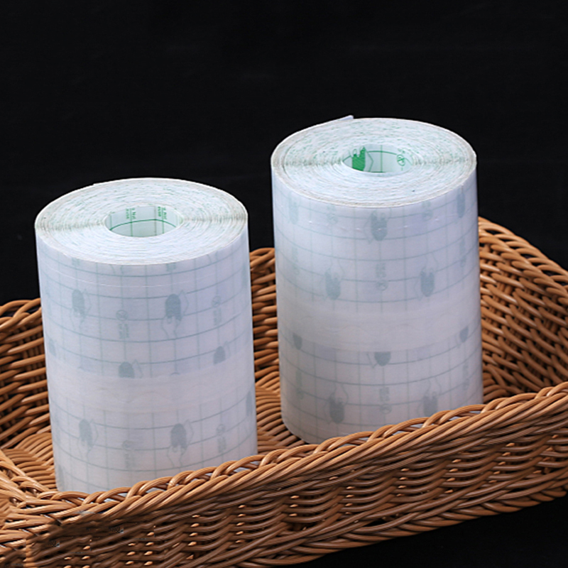 10M Length Waterproof Medical Transparent Adhesive Tape Bath Anti-allergic Medicinal Wound Dressing Pu Membrane Fixation Tape