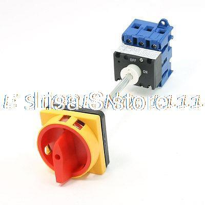 ON/OFF 2 Position Rotary Cam Changeover Switch AC600V 63A promotion  on off two 2 position rotary