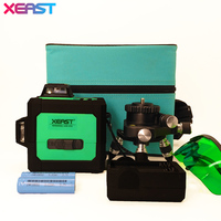 XEAST XE 11A Red Laser Level Meter 360 Degree Rotary Cross 5 Line 6 Point Laser