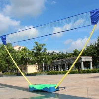 3 in 1 Outdoor Sport Badminton Tennis Volleyball Net Portable Battledore Stand Set Net Frame Supporting Stand Storage Case