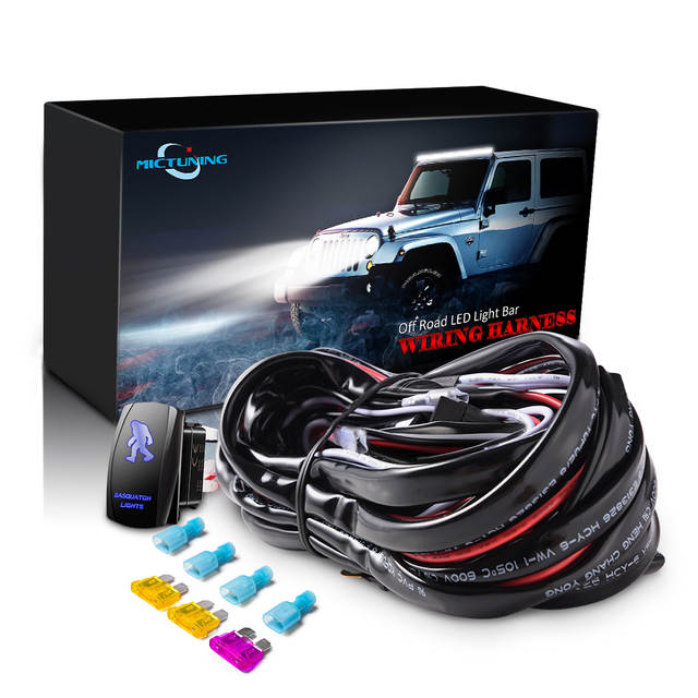 MICTUNING LED Light Bar Wiring Harness Fuses With High Quality 40Amp on