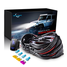 Mictuning 16AWG 180 ワット led ライトバー配線ハーネスと融合高品質 40Amp リレー on off ロッカースイッチブルー 2 リード 5 色